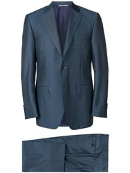Canali Tailored Suit Blue