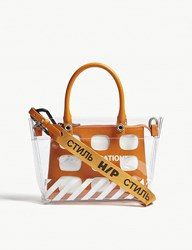 Heron Preston Off White Collaboration Mini Tote Bag Transparent