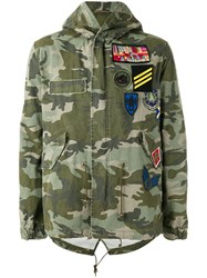 Mr And Mrs Italy Camouflage Print Jacket Green
