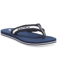 Nautica Garland Flip Flops Women's Shoes Navy White