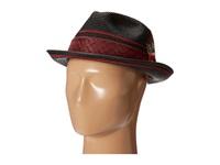 Stacy Adams Polybraid Pinch Front Fedora With Contrast Tie Band Black Fedora Hats