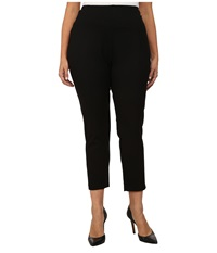 Lysse Plus Size Twill Cigarette Pants Black Women's Casual Pants
