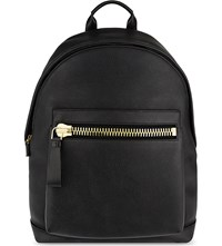 Tom Ford Buckley Soft Grained Leather Backpack Black