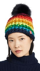 Mischa Lampert Deep Stripe Hat New Rainbow