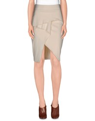 Guess By Marciano Skirts Knee Length Skirts Women Ivory