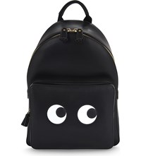 Anya Hindmarch Eyes Leather Backpack Black
