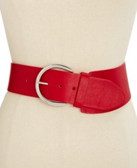 Inc International Concepts Asymmetric Stretch Belt Only At Macy's Red