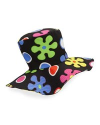 Moschino Floral Floppy Top Hat Black