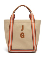 Anya Hindmarch Walton Customisable Canvas Tote Bag Tan Multi