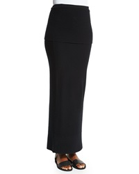 Donna Karan Ribbed Top Long Cashmere Skirt Black