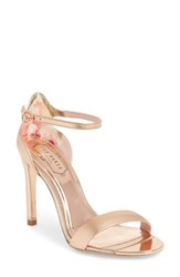 Ted Baker 'S London Sharlot Ankle Strap Sandal Rose Gold Leather