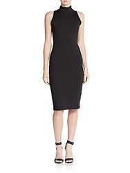 Rd Style Mockneck Sheath Dress Black