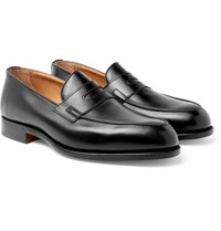 Tricker's Blair Leather Penny Loafers Black