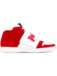 Palm Angels 'Basket' Mid Top Sneakers Red