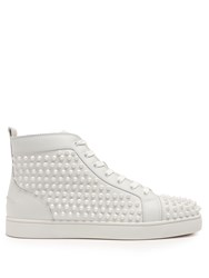 Christian Louboutin Louis Spike Embellished High Top Trainers White