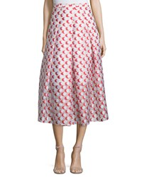 Sachin And Babi Noir Pleated Polka Dot Midi Skirt Tomato Red Women's