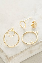 Anthropologie Ecliptic Post Earrings Gold