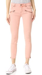 Paige Jane Zip Crop Jeans Faded Petal Pink