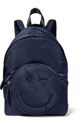 Anya Hindmarch Chubby Wink Shell Backpack Midnight Blue