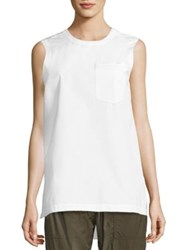 Dkny Solid Sleeveless Top White
