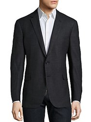 Ralph Lauren Cashmere And Silk Plaid Sportcoat Charcoal Black