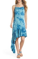 Green Dragon Crystal Forest Clementine Cover Up Dress Sky