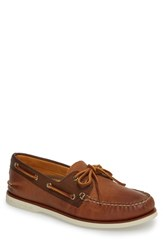 Sperry Gold Cup Authentic Original Boat Shoe Tan Brown Leather