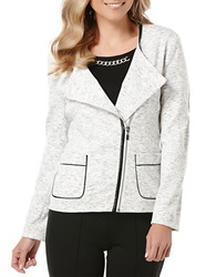 Rafaella Plus Plus Ponte Moto Jacket Snow White