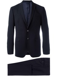 Tonello Flap Pockets Formal Suit Black