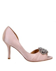Badgley Mischka Pearson Satin Pumps Pink