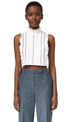 Marissa Webb Yvette Dickie Crop Top White