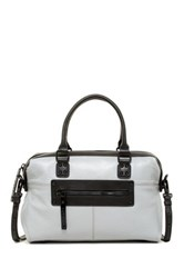 L.A.M.B. Haloma Leather Satchel Gray
