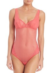 Cosabella One Piece Sheer Tankini Paradise Pink