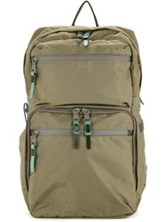 As2ov Zipped Backpack Men Nylon One Size Green