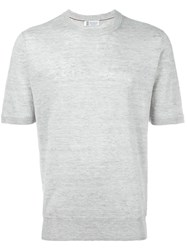Brunello Cucinelli Crew Neck T Shirt Grey