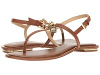 Michael Michael Kors Suki Thong Luggage Smooth Calf Women's Sandals Brown