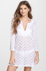 J Valdi Crochet Cover Up Tunic White