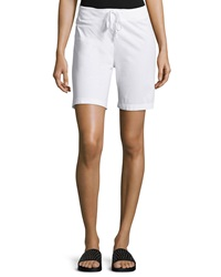 W By Wilt Drawstring Straight Leg Shorts White