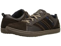 Skechers Relaxed Fit Sorino Evoie Chocolate Men's Lace Up Casual Shoes Brown