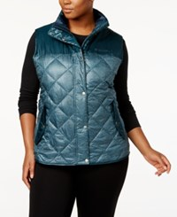 Columbia Plus Size Rio Dulce Printed Insulated Vest Night Shade
