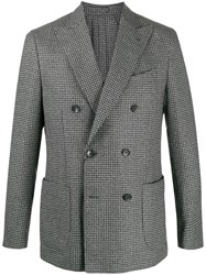 Dell'oglio Houndstooth Check Blazer 60