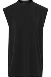 Y 3 Adidas Nomad Oversized Stretch Cotton Jersey Tank Black