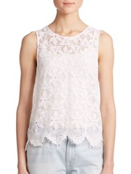 Frame Le Lace Tank Top White