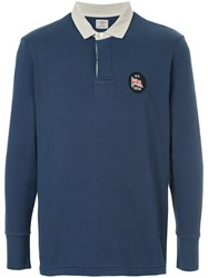 Kent And Curwen Longsleeved Polo Shirt Blue