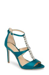 Jewel Badgley Mischka Mica Crystal Embellished Strappy Sandal