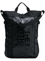 The North Face Printed Logo Backpack Black