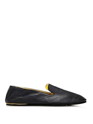 Alexander Mcqueen Leather Skull Slippers