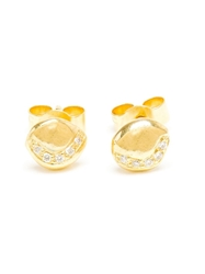 Natasha Collis 18Kt Gold Diamond Stud Earings Metallic