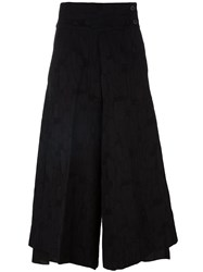 Individual Sentiments Layered Palazzo Pants Black