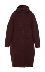 Martin Grant Hooded Duffle Coat Red